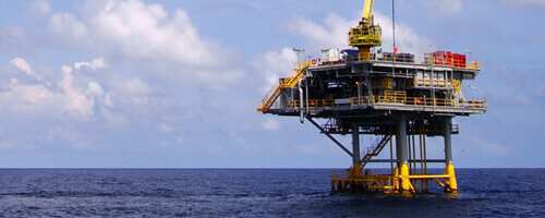 oli platform in the sea